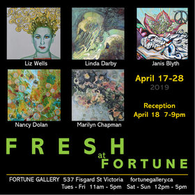 Fresh Art Opening: Janis Blyth, Marilyn Chapman, Linda Darby, Nancy Dolan, Liz Wells @ Fortune Gallery Apr 18 2019 - Apr 19th @ Fortune Gallery