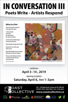 In Conversation III:  Poets Write, Artists Respond @ Coast Collective Art Centre Apr 3 2019 - Mar 19th @ Coast Collective Art Centre