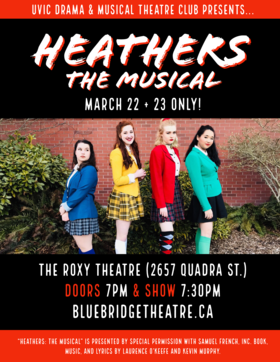 Heathers: The Musical @ Blue Bridge at the Roxy Mar 22 2019 - Jul 23rd @ Blue Bridge at the Roxy