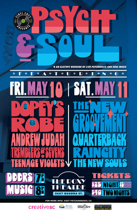 Vinyl Envy presents Psych and Soul Weekend 2019: Dopey's Robe, The New Groovement, Andrew Judah, Quarterback, Tremblers of Sevens, Raincity, Teenage Violets, The New Souls @ Blue Bridge at the Roxy May 10 2019 - Sep 23rd @ Blue Bridge at the Roxy