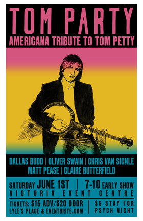An Americana Tribute to Tom Petty: Tom Party @ Victoria Event Centre Jun 1 2019 - Aug 22nd @ Victoria Event Centre