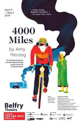 4000 Miles @ Belfry Theatre Apr 18 2019 - Apr 19th @ Belfry Theatre