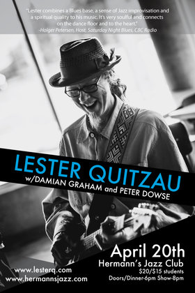 Juno Award Winning Guitarist Lester Quitzau w. Damian Graham & Peter Dowse @ Hermann