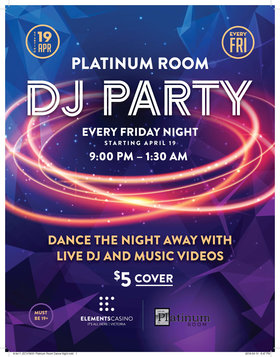 Friday Dance Night @ Elements Casino - Victoria Apr 26 2019 - Aug 19th @ Elements Casino - Victoria