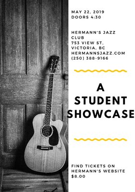 A Student Showcase @ Hermann's Jazz Club May 22 2019 - Jun 16th @ Hermann's Jazz Club
