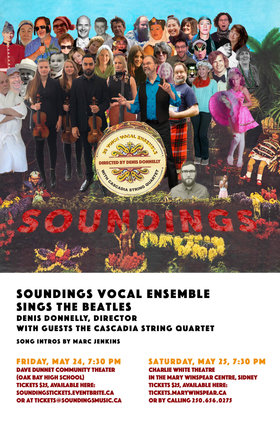 Soundings Vocal Ensemble @ Charlie White Theatre May 25 2019 - May 27th @ Charlie White Theatre
