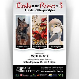 LInda to the Power of 3: Linda Gordon, Linda Anderson, Linda Byrne @ Coast Collective Art Centre May 8 2019 - Aug 21st @ Coast Collective Art Centre