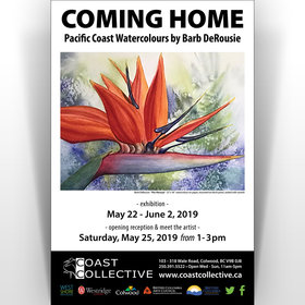 Coming Home – Pacific Coast Watercolours by Barb DeRousie @ Coast Collective Art Centre May 22 2019 - Oct 18th @ Coast Collective Art Centre