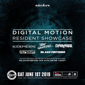 Digital Motion showcase vol5 at SUBculture Saturday's @ The Red Room Jun 1 2019 - Aug 23rd @ The Red Room