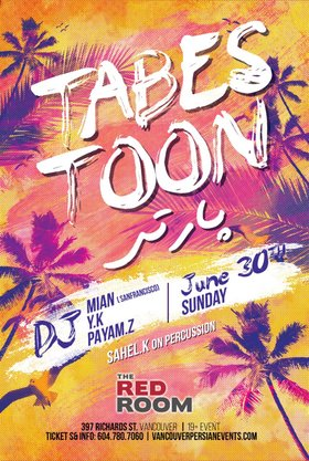 Tabestoon Party @ The Red Room Jun 30 2019 - Aug 23rd @ The Red Room