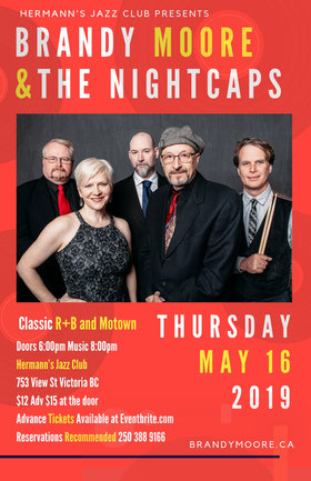 Brandy Moore & the Nightcaps @ Hermann's Jazz Club May 16 2019 - Jun 16th @ Hermann's Jazz Club