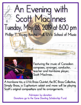 An Evening with Scott MacInnes @ Phillip T. Young Recital Hall (Uvic) May 28 2019 - Jun 19th @ Phillip T. Young Recital Hall (Uvic)