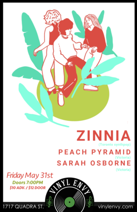Zinnia (Toronto, ON), Sarah Osborne, Peach Pyramid (Solo Set) @ Vinyl Envy May 31 2019 - Sep 23rd @ Vinyl Envy
