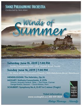 Winds of Summer concert: Yariv Aloni, Jacquelin Kereluk, Don Mayer, George Kereluk, David Watson @ Sooke Community Hall Jun 15 2019 - Jun 24th @ Sooke Community Hall