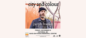 City and Colour @ Save-On-Foods Memorial Centre Nov 8 2019 - Oct 14th @ Save-On-Foods Memorial Centre
