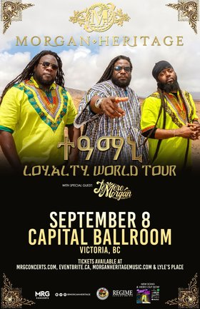 MORGAN HERITAGE @ Capital Ballroom Sep 8 2019 - Aug 23rd @ Capital Ballroom