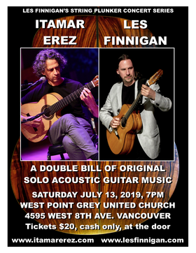 Itamar Erez, Les Finnigan @ West Point Grey United Church Jul 13 2019 - Oct 23rd @ West Point Grey United Church