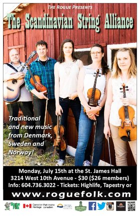 The Scandinavian String Alliance @ St. James Community Hall Jul 15 2019 - Oct 23rd @ St. James Community Hall
