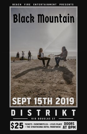 Black Mountain, Majeure @ Distrikt Sep 15 2019 - Oct 16th @ Distrikt