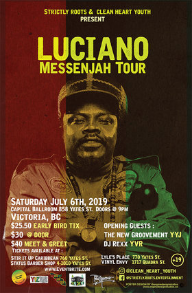 Messenjah Tour: Luciano, The New Groovement @ Capital Ballroom Jul 6 2019 - Jul 16th @ Capital Ballroom