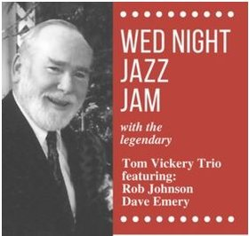 Hermann's Jazz Jam: Feat. The Tom Vickery Trio @ Hermann's Jazz Club Aug 7 2019 - Aug 20th @ Hermann's Jazz Club