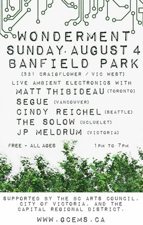 Wonderment (Ambient Edition) at Banfield Park: Matt Thibideau, Segue, Cindy Reichel, The SoLow , JP Meldrum @ Banfield Park Aug 4 2019 - Jul 24th @ Banfield Park
