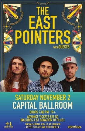 The East Pointers, Plus Guests @ Capital Ballroom Nov 2 2019 - Oct 18th @ Capital Ballroom