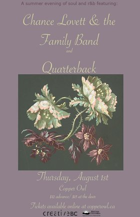 Chance Lovett & the Family Band, Quarterback @ Copper Owl Aug 1 2019 - Aug 25th @ Copper Owl