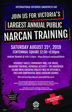 Overdose Awareness Day: Hung Jury (Lawyer band - 3 yr winner of Battle of the Bar Bands), Fake News  (Lawyer band) @ Centennial Square Aug 31 2019 - Oct 22nd @ Centennial Square