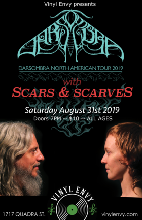 Darsombra (Baltimore, MD), Scars and Scarves @ Vinyl Envy Aug 31 2019 - Sep 23rd @ Vinyl Envy
