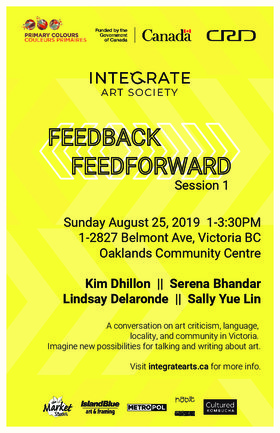 FEEDBACK/FEEDFORWARD - Integrate Arts @ Oaklands Community Association Aug 25 2019 - Sep 15th @ Oaklands Community Association