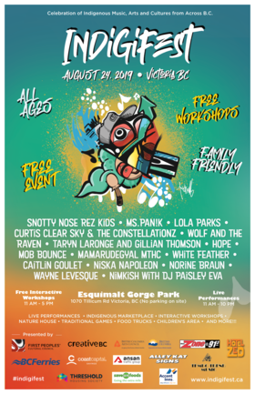 Indigifest @ Esquimalt Gorge Park Aug 24 2019 - Sep 15th @ Esquimalt Gorge Park