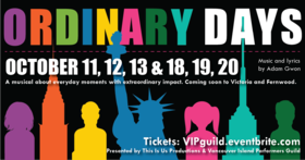 Ordinary Days - The Musical @ Paul Phillips Hall Oct 18 2019 - Oct 20th @ Paul Phillips Hall