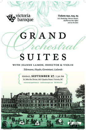 Grand Orchestral Suites: Victoria Baroque @ St. John The Divine Sep 27 2019 - Oct 13th @ St. John The Divine