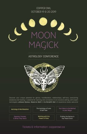 Moon Magick Astrology Conference @ Copper Owl Oct 19 2019 - Oct 20th @ Copper Owl
