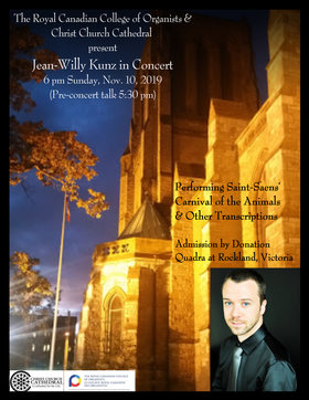 Jean-Willy Kunz in Concert: Jean-Willy Kunz @ Christ Church Cathedral Nov 10 2019 - Oct 14th @ Christ Church Cathedral