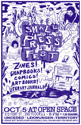 Small Press Fest @ Open Space Oct 5 2019 - Oct 16th @ Open Space