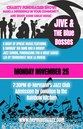 Charity Fundraiser: The Blue Bosses & Jive Big Band fundraiser for The Rainbow Kitchen @ Hermann