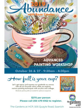 Abundance Painting Workshop: ROSE COWLES @ The Gardens at HCP Oct 26 2019 - Oct 22nd @ The Gardens at HCP