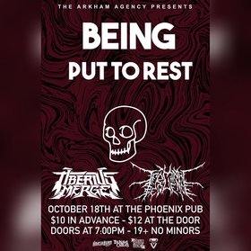 BEING, TIBERIUS MERGE, TERMINAL SEQUENCE & PUT TO REST: Being, Tiberius merge, Put to rest , Terminal Sequence @ The Phoenix Bar and Grill Oct 28 2019 - Oct 22nd @ The Phoenix Bar and Grill