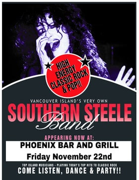 Chrissy Steele Band, Christina Southern @ The Phoenix Bar and Grill Nov 22 2019 - Oct 22nd @ The Phoenix Bar and Grill