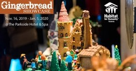 11th Annual Gingerbread Showcase @ The Parkside Hotel & Spa Nov 16 2019 - Oct 22nd @ The Parkside Hotel & Spa