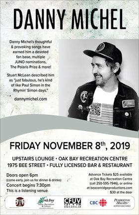 Danny Michel @ Recreation Oak Bay Nov 8 2019 - Nov 12th @ Recreation Oak Bay
