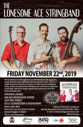 Lonesome Ace Stringband @ Recreation Oak Bay Nov 22 2019 - Nov 20th @ Recreation Oak Bay