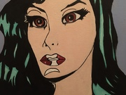 Siren, pop art style by  Zoe Sandell