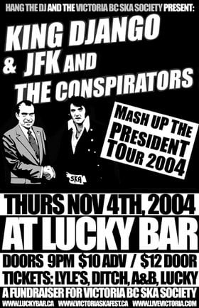 Jfk & The Conspirators, King Django, Zsolt Sándor @ Lucky Bar Nov 4 2004 - Jan 15th @ Lucky Bar