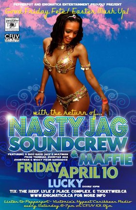 GOOD FRIDAY FETE/EASTER MASH UP!: NastyJag Sound Crew, Foundation Stone @ Lucky Bar Apr 10 2009 - Jan 26th @ Lucky Bar