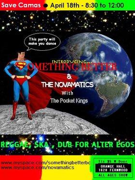 SAVE CAMAS BOOKSTORE - Reggae, Ska, Hip Hop DANCE PARTY to save Camas: The Novamatics, Something Better, Pocket Kings @ Orange Hall Apr 18 2009 - Oct 16th @ Orange Hall