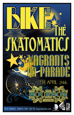 CRAZY DANCE MADNESS! feat.: BIKE, The Skatomatics, Vagrants On Parade @ The Bourbon Apr 24 2009 - Aug 25th @ The Bourbon