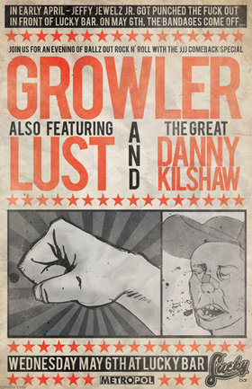 The JJJ Comeback Special!: Growler, lust - Victoria, Danny Kilshaw @ Lucky Bar May 6 2009 - Jun 6th @ Lucky Bar